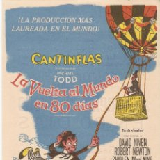 Cine: LA VUELTA AL MUNDO EN 80 DÍAS - CANTINFLAS, DAVID NIVEN, ROBERT NEWTON, SHIRLEY MACLANE. Lote 57588094