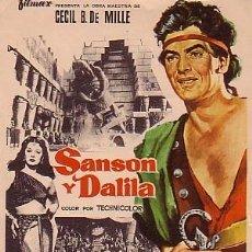 Cine: SANSÓN Y DALILA. Lote 57609311