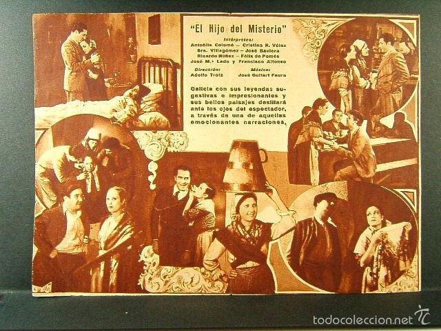 Cine: EL HIJO DEL MISTERIO-ALALA EN ESPAÑA-ADOLFO TROTZ-ANTOÑITA COLOME-MODERN-C.N.T.-A.I.T.-F.A.I.-1938. - Foto 2 - 57626160