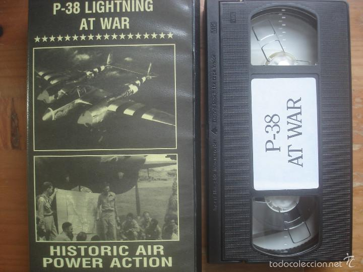 VHS P-38 LIGHTNING AT WAR. AVIACIÓN (Cine - Folletos de Mano - Documentales)