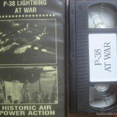 Cine: VHS P-38 LIGHTNING AT WAR. AVIACIÓN. Lote 57649489