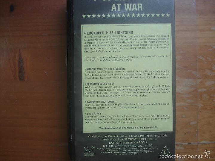 Cine: VHS P-38 Lightning at war. Aviación - Foto 2 - 57649489