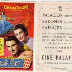 Cine: FOLLETO DE MANO VALS REAL CON MARIANNE KOCH. CINE PALAFOX ZARAGOZA VER ESTADO. Lote 57649900