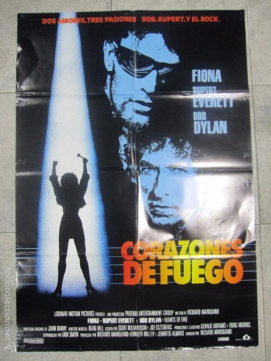 CARTEL DE CINE. CORAZONES DE FUEGO. 98 X 68 CM. (Cine - Folletos de Mano - Musicales)