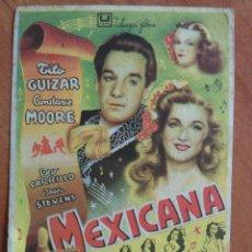 Cine: MEXICANA - SIN PUBLICIDAD. Lote 57690495
