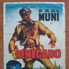Cine: 1946 EL RENEGADO - PAUL MUNI. Lote 57692262