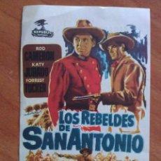 Cine: 1954 LOS REBELDES DE SAN ANTONIO - ROD CAMERÓN. Lote 57693540