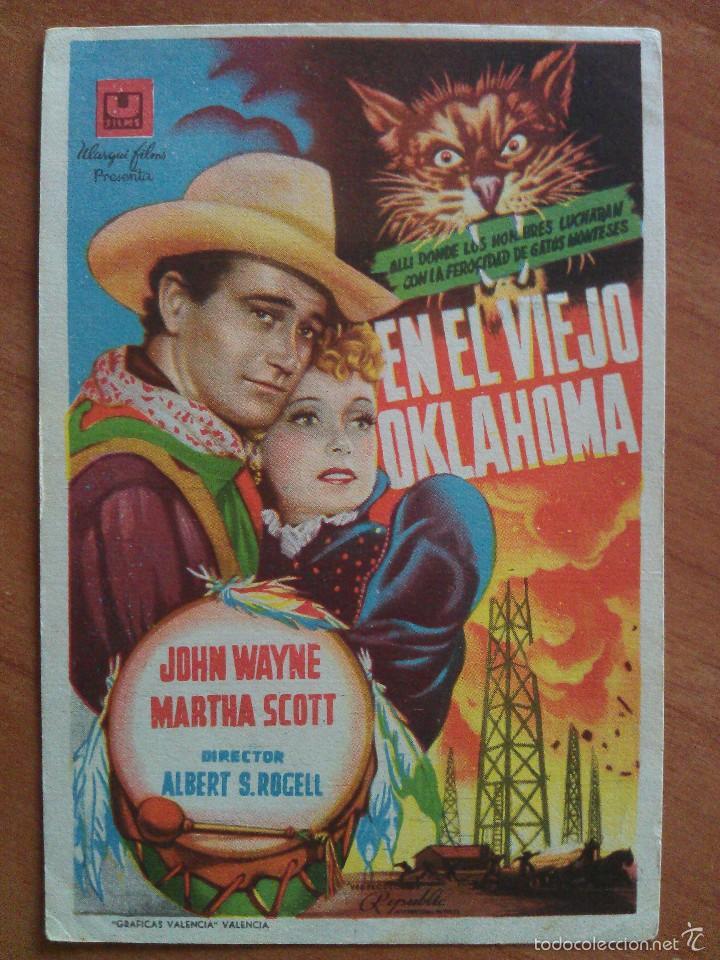 EN EL VIEJO OKLAHOMA - JOHN WAYNE (Cine - Folletos de Mano - Westerns)