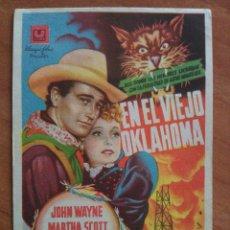 Cine: EN EL VIEJO OKLAHOMA - JOHN WAYNE. Lote 57693767