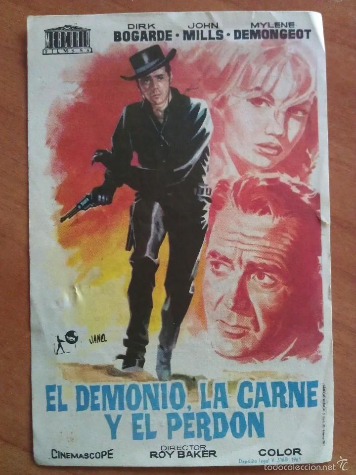 1962 EL DEMONIO, LA CARNE Y EL PERDÓN - DIRK BOGARDE (Cine - Folletos de Mano - Westerns)