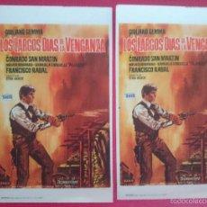 Cine: 2 FOLLETO, PROGRAMA CINE - LOS LARGOS DIAS DE LA VENGANZA(1967) -CON CONRADO SANMARTIN. R-2998. Lote 57695584