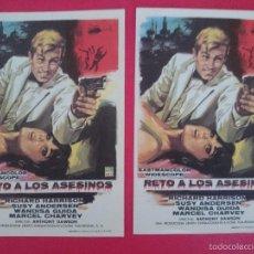 Cine: LOTE 2 FOLLETO, PROGRAMA CINE - RETO A LOS ASESINOS (1967) - RICHARD HARRISON .. R-3007. Lote 57700700