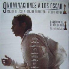 Cine: 12 AÑOS DE ESCLAVITUD, CON BRAD PITT. . POSTER.. Lote 195043457