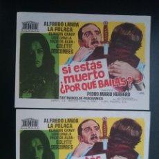Cine: 2 FOLLETO, PROGRAMA CINE - SI ESTAS MUERTO ¿POR QUE BAILAS? (AÑO 1970) - ALFREDO LANDA.... R-3024. Lote 57726355