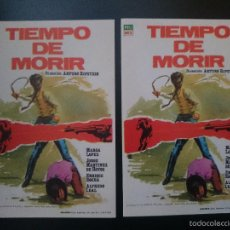 Cine: 2 FOLLETO, PROGRAMA CINE - TIEMPO DE MORIR -AÑO 1965 - MARGA LOPEZ -JORGE MARTINEZ HOYOS - .. R-3028. Lote 57726796