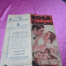 Cine: ROSA DEL RANCHO PROGRAMA DE CINE DOBLE C16. Lote 57751762