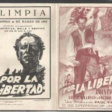 Cine: POR LA LIBERTAD - 15 X 20,5 CM - 1933. Lote 57768548