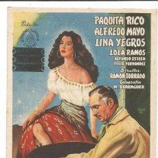 Cine: DEBLA LA VIRGEN GITANA - SENCILLO - PUBLICIDAD TEATRO PRINCIPAL. Lote 57805406