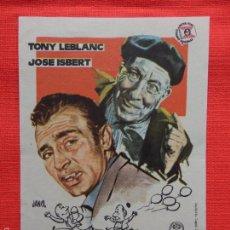 Cine: DON LUCIO Y EL HERMANO PIO, SENCILLO ORIGINAL EXCTE. ESTADO, TONY LEBLANCH JOSE ISBERT, SIN PUBLI. Lote 57834301