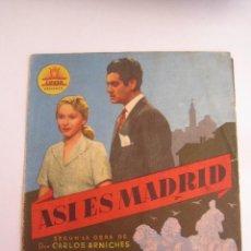 Cine: ASI ES MADRID FOLLETO DE MANO ORIGINAL ESTRENO . Lote 57847654