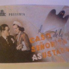 Cine: EL CASO DE LA SEÑORITA ASUSTADA.. Lote 57855660