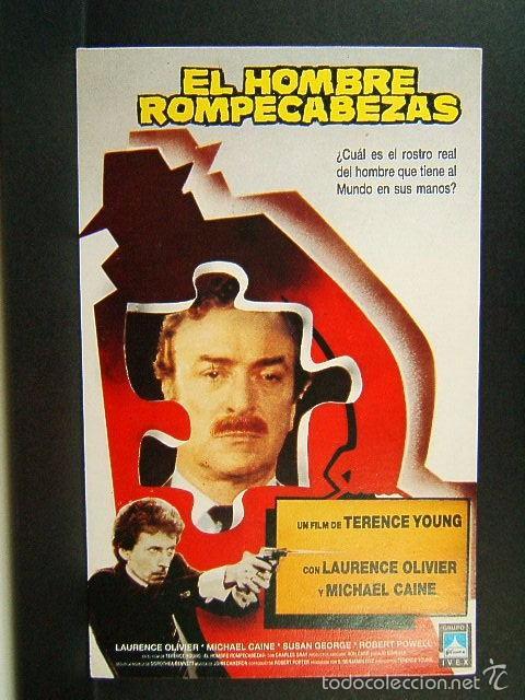 EL HOMBRE ROMPECABEZAS-TERENCE YOUNG-MICHAEL CAINE-LAURENCE OLIVIER-SUSAN GEORGE-IVEX FILMS-1989. (Cine - Folletos de Mano - Acción)