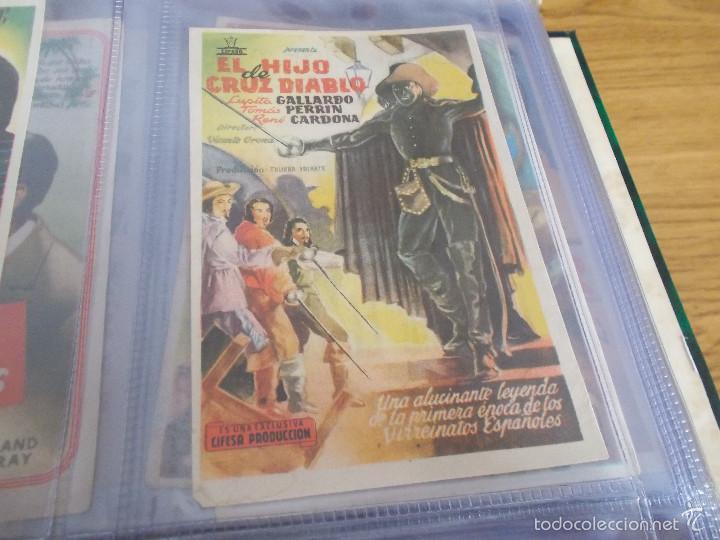 EL HIJO DE CRUZ DIABLO-VICENTE ORONA-LUPITA GALLARDO-TOMAS PERRIN- PUBLICIDAD CINE IDEAL ELDA (Cine - Folletos de Mano - Clásico Español)