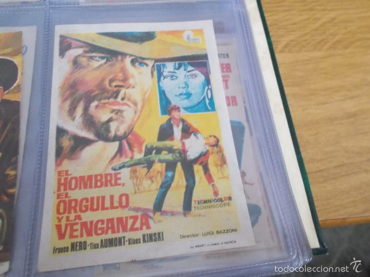 EL HOMBRE EL ORGULLO Y LA VENGANZA.FRANCO NERO, TISA AUMONT. PUBLICIDAD CINE GLORIA ELDA (Cine - Folletos de Mano - Westerns)