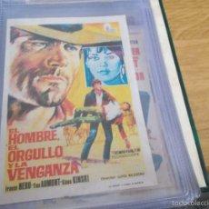 Cine: EL HOMBRE EL ORGULLO Y LA VENGANZA.FRANCO NERO, TISA AUMONT. PUBLICIDAD CINE GLORIA ELDA. Lote 57917978