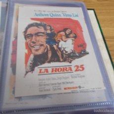 Folhetos de mão de filmes antigos de cinema: LA HORA 25 - ANTHONY QUINN, VIRNA LISI PUBLICIDA CINE GLORIA DE ELDA. Lote 57923270