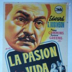 Cine: PROGRAMA DE CINE LA PASION DE SU VIDA. CENTRAL CINEMA.. Lote 57937807