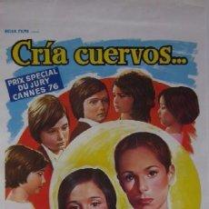 Cine: CRIA CUERVOS - CARLOS SAURA. Lote 57960860