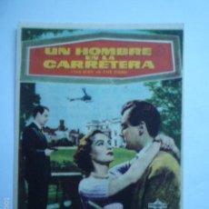 Cine: PROGRAMA DE CINE UN HOMBRE EN LA CARRETERA. GRAN CINEMA COCA (VALLADOLID).. Lote 57976449