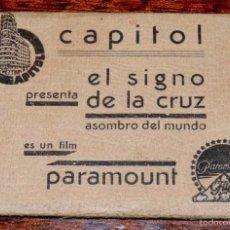 Cine: EL SIGNO DE LA CRUZ, ALBUM RECUERDO DE LA PELÍCULA, CON PUBLICIDAD DE EL CINE CAPITOL DE MADRID, DES. Lote 57990212