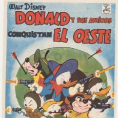 Cine: DONALD Y SUS AMIGOS CONQUISTAN EL OESTE. SENCILLO DE CHAMARTÍN. ¡IMPECABLE!. Lote 118833656