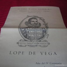 Cine: FOLLETO TEATRO MARIA GUERRERO .TEMPORADA 1961- 62,MADRID. Lote 58014994