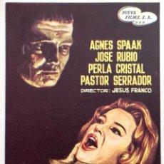 Cine: EL SECRETO DEL DR. ORLOFF- AGNES SPAAK- DIRECTOR JESÚS FRANCO- SIN PUBLICIDAD- IMPECABLE. Lote 58015562