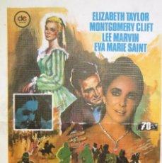 Cine: CARTEL CINE PELICULA ''EL ARBOL DE LA VIDA'' CON ELIZABETH TAYLOR MONTGOMERY CLIFT. Lote 58063882