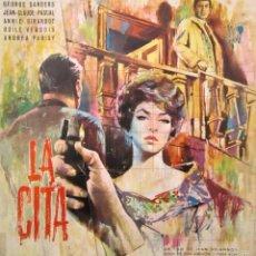 Cine: CARTEL PELÍCULA ''LA CITA'' + 2 FOTOS 1961 CON ANNIE GIRARDOT DE JEAN DELANNOY. Lote 58070789