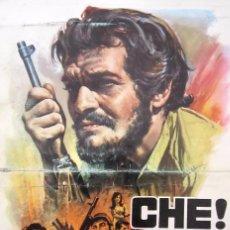 Cine: CARTEL PELÍCULA ''CHE!'' + 2 FOTOS 1977 CON OMAR SHARIF DE RICHARD FLEISCHER. Lote 58071359