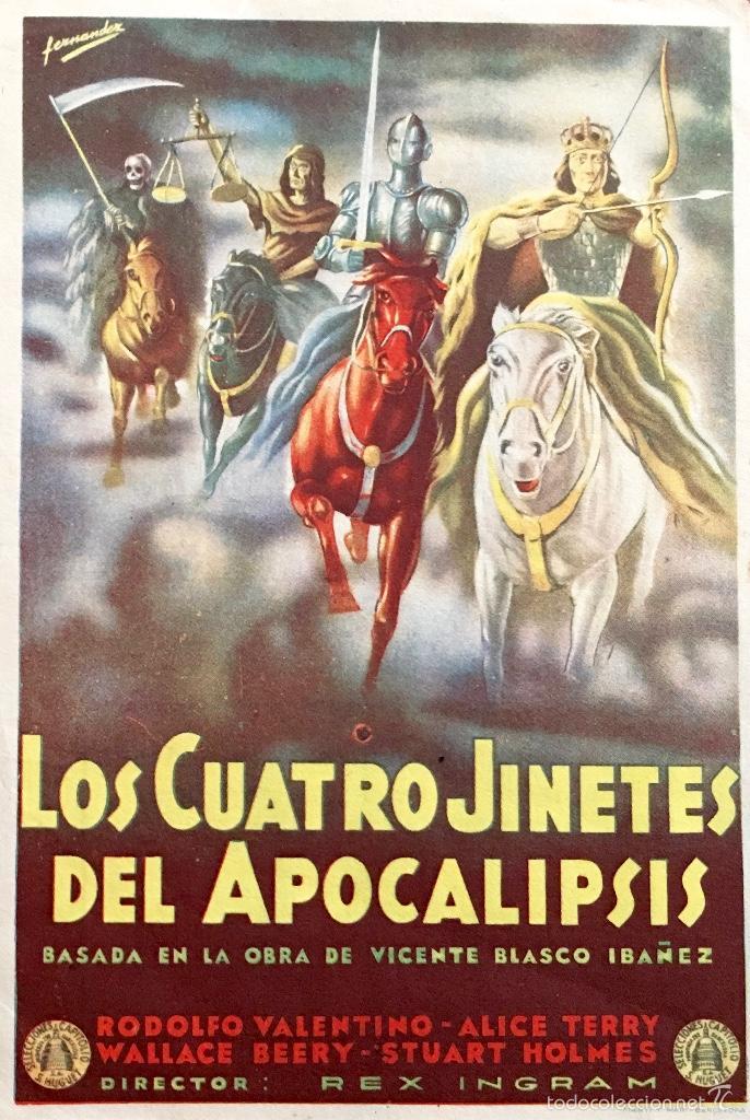 Risultati immagini per Los cuatro jinetes del Apocalipsi pelicula rodolfo valentino