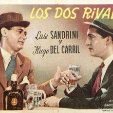 Cine: LOS DOS RIVALES- LUIS SANDRINI- HUGO DE CARRIL- SIN PUBLICIDAD-EN MUY BUEN ESTADO. Lote 58095949