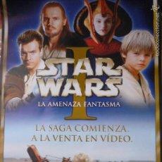 Cine: POSTER DE VIDEOCLUB STAR WARS 1 LA AMENAZA FANTASMA. Lote 58110856