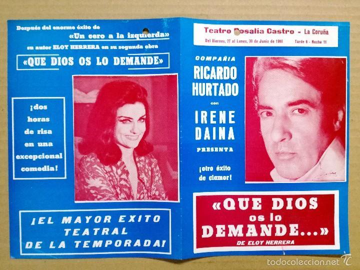 Cine: 12 FOLLETOS DE MANO DE TEATRO ESPAÑOLES,COMEDIA,DRAMA.. - Foto 9 - 58145223