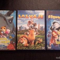 Cine: TRES PELÍCULAS DVD. ¡MOVIDA BAJO EL MAR!, SALVAJE Y EL ESPANTATIBURONES.. Lote 58186465