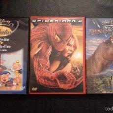 Cine: TRES PELÍCULAS DVD. FÁBULAS, SPIDER-MAN 2 Y DINOSAURIO.. Lote 58186808