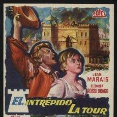 Cine: P-0390- EL INTREPIDO LA TOUR (LA TOUR, PRENDS GARDE) (JEAN MARAIS - ELEONORA ROSSI DRAGO). Lote 156188026