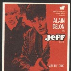 Cine: P-0171- JEFF (ALAIN DELON - MIREILLE DARC - GEORGES ROUQUIER - GABRIEL JABBOUR). Lote 205530740