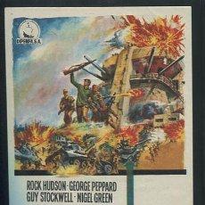 Cine: PROGRAMA ROCK HUDSON - TOBRUK - GEORGE PEPPARD, GUY STOCKWELL - ARTHUR HILLER -CON PUBLICIDAD. Lote 58384458
