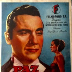 Cine: PAZ- RAFAEL DURAN-EMILIO GUIU-ALFREDO MAYO-DIRECTOR: JOSÉ DÍAZ MORALES-FIMOFONO. Lote 58395925